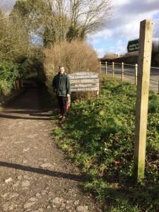 Entrance to the Lavenham Walk.