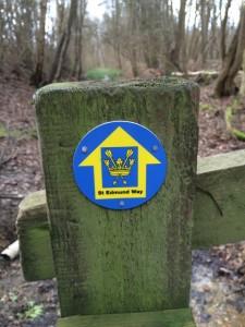 St Edmund Way marker.