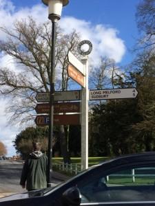 Lavenham village signpost.